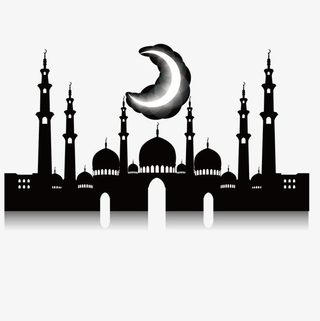 650x651 Night Mosque, Islamic Architecture Silhouette, Mosque, Night