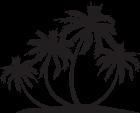 140x113 Palm Island Silhouette Png Clip Art