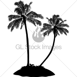 325x325 Palm Trees Island Silhouette Gl Stock Images