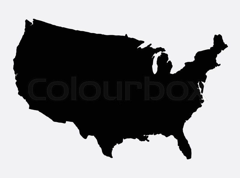 800x593 Us Map Icon The United States Of America Map Island Silhouette