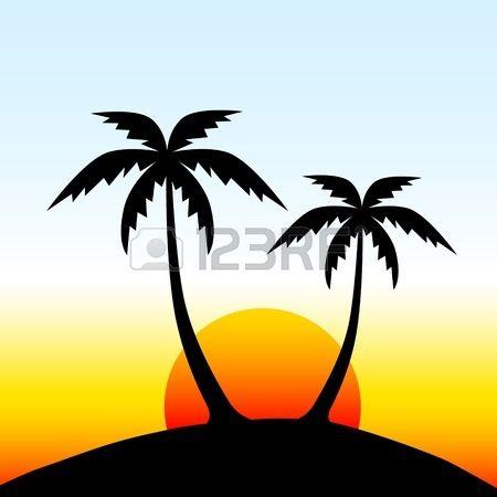 Island Silhouette Vector