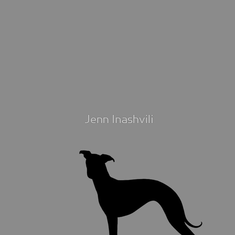 800x800 Italian Greyhound Silhouette(S) Spiral Notebooks By Jenn