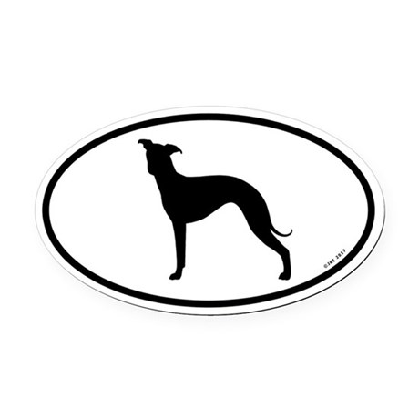 460x460 Italian Greyhound Silhouette Car Accessories