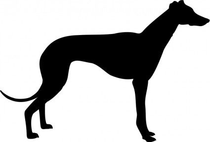 425x288 Greyhound Templates Greyhound Silhouette Vector Clip Art