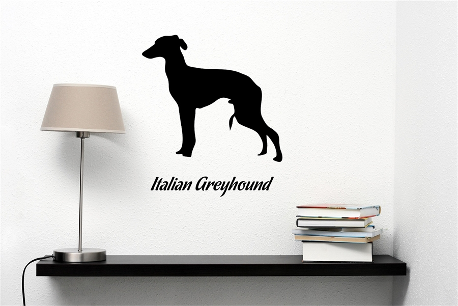 900x601 Greyhound Silhouette Vinyl Wall Art Decal Sticker