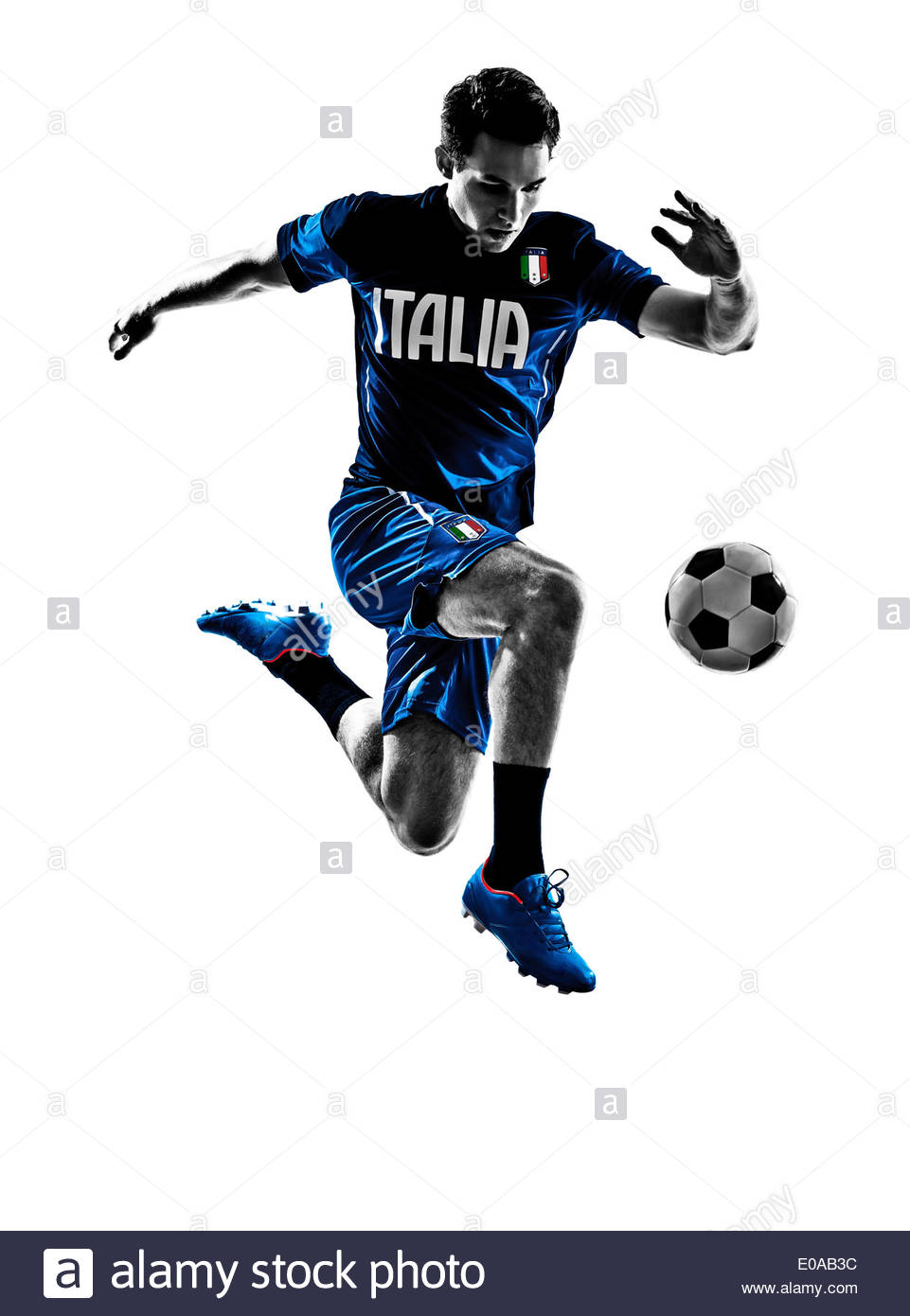 961x1390 One Italian Soccer Player Man Playing Football Jumping