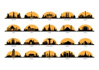200x141 Silhouette Of Italy Vector Image