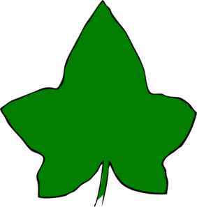 282x297 Ivy Leaf Big Green 3 Clip Art