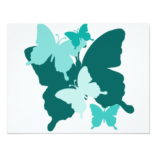 530x530 Butterfly Reunion Blank Invitation Invitations 4 U
