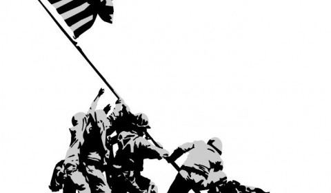 480x280 Iwo Jima Flag Raising Wallpapers