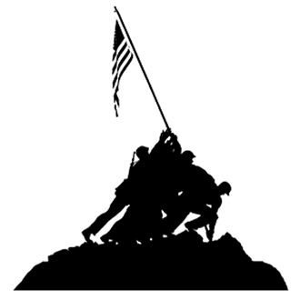 330x330 Iwo Jima Silhouette Vinyl Sticker Decal