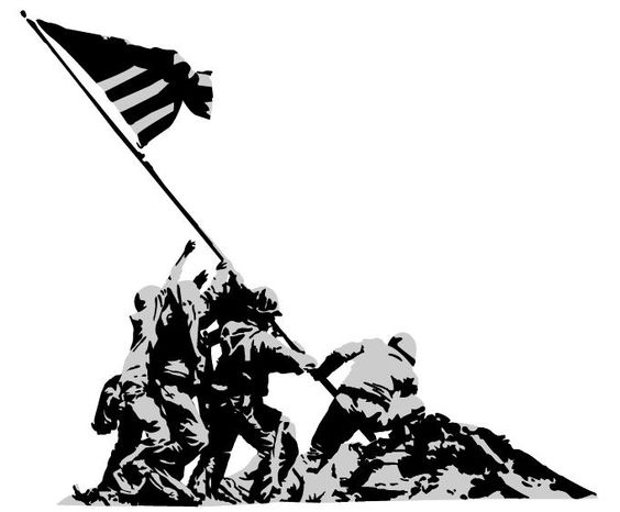 564x466 40 Awesome Iwo Jima Silhouette Clip Art Iwo Jima Memorial