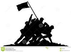 236x173 Raising The Flag On Iwo Jima Art Decal U.s. Marine Corps
