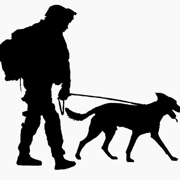 600x600 Canine Combat Team Belgian Malinois Silhouette Vinyl Sticker Decal