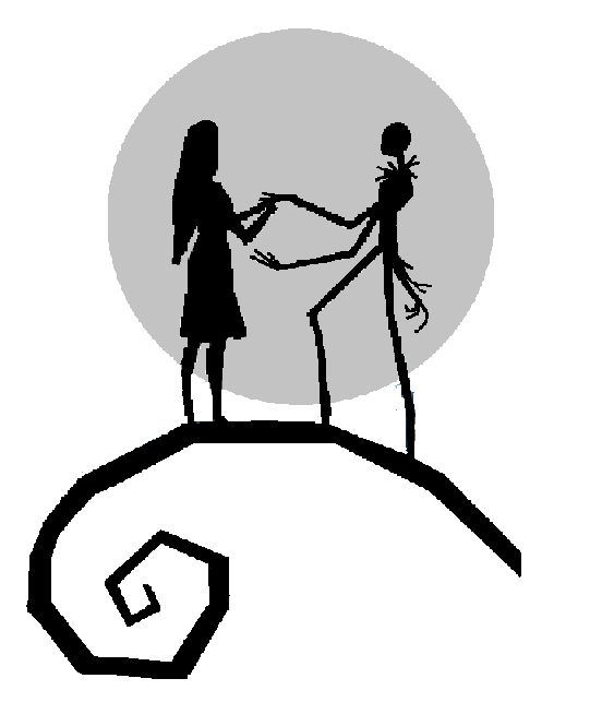 Jack And Sally Silhouette