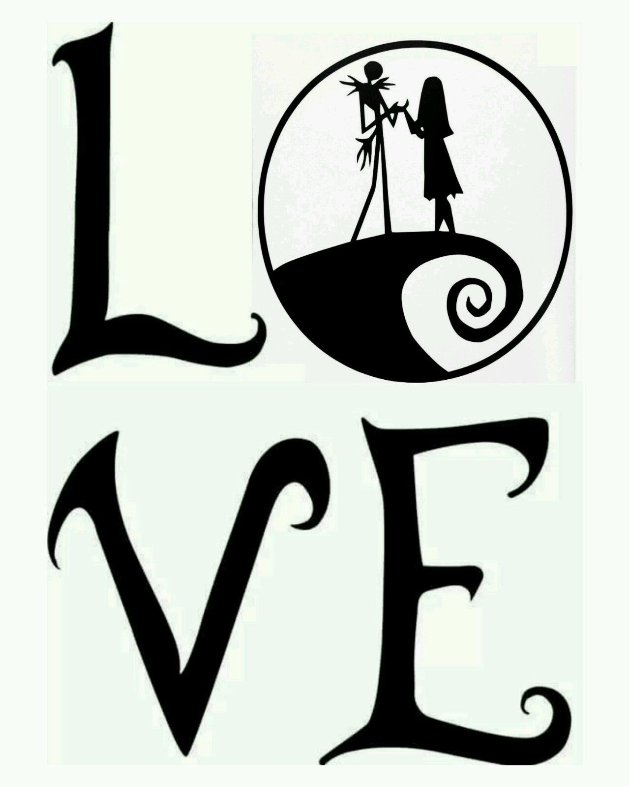 Jack And Sally Silhouette at GetDrawings.com | Free for personal use ...