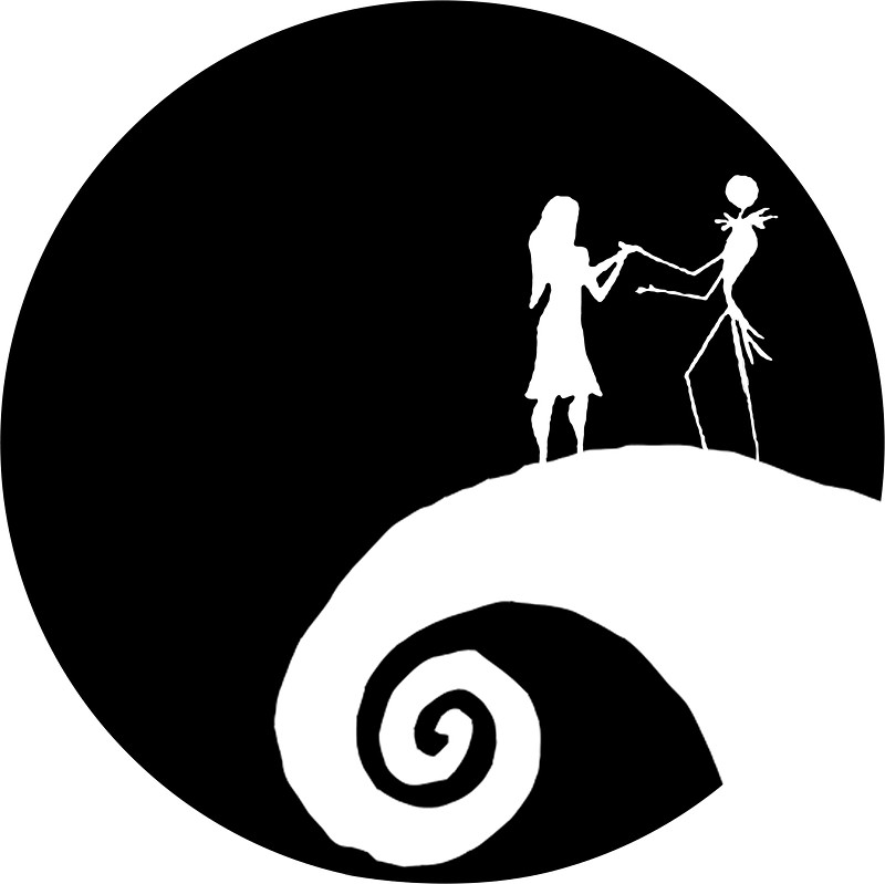 Jack And Sally Silhouette At GetDrawings Free For Personal Use Enchanting Jack And Sally Pumpkin Patterns For Free