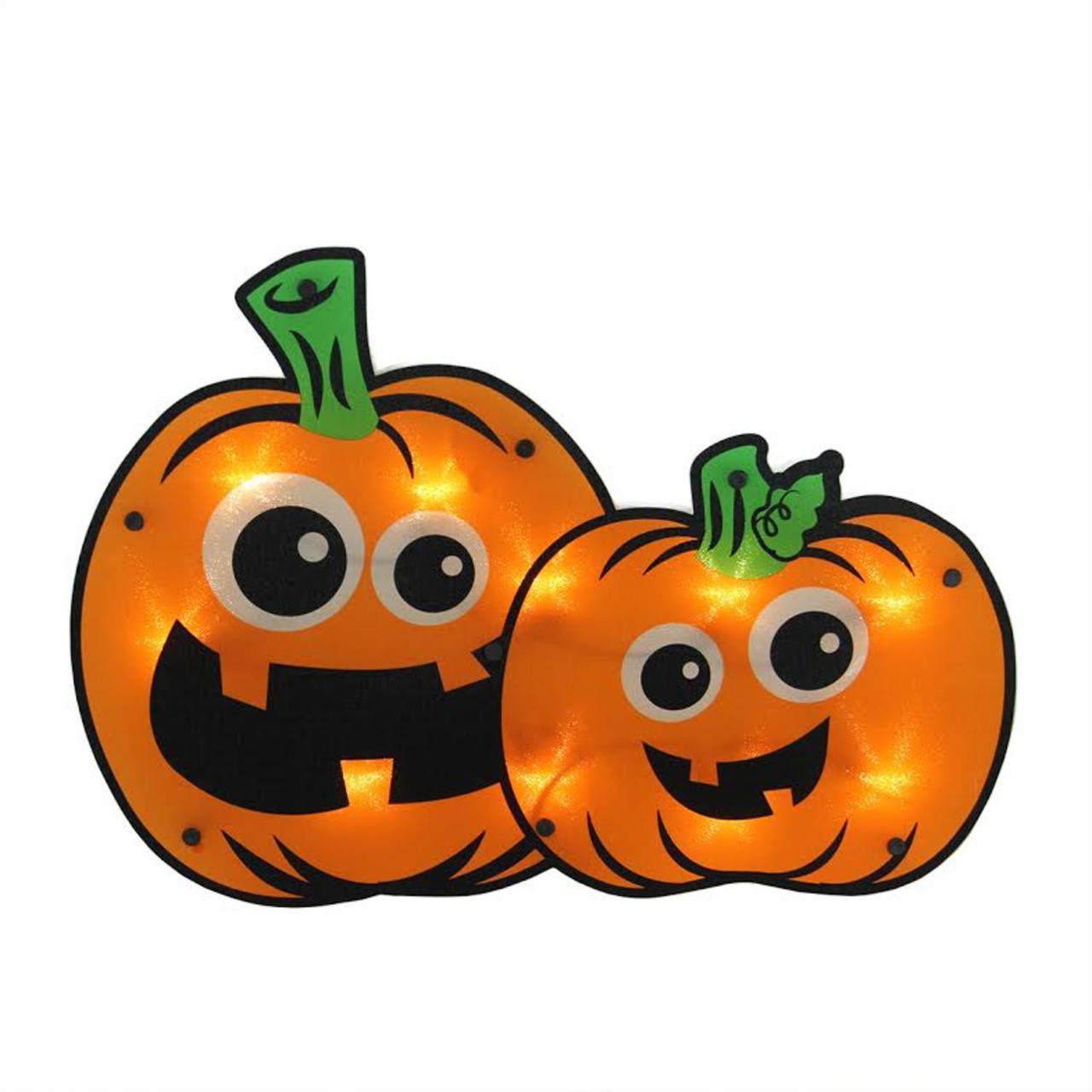 1280x1280 16.25 Lighted Jack O Lantern Pumpkin Couple Halloween Window