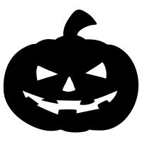 200x200 Clear Acrylic Halloween Shapes