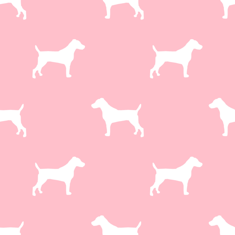 470x470 Jack Russell Silhouette Fabric Dog Silhouette Fabric
