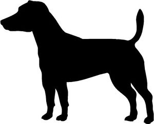 300x242 Jack Russell Terrier Dog Silhouette Sticker Decal Graphic Vinyl