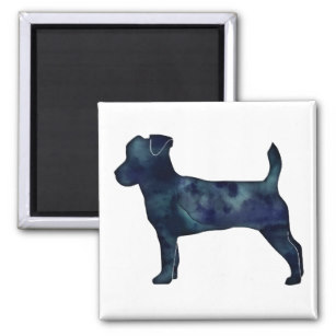 307x307 Jack Russell Terrier Silhouette Refrigerator Magnets Zazzle
