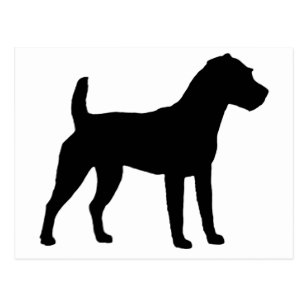 307x307 Jack Russell Silhouette Postcards Zazzle