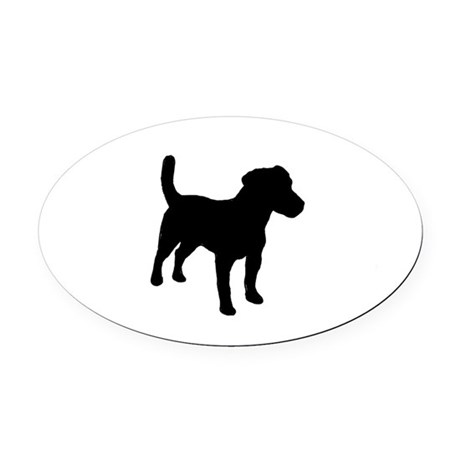 460x460 Jack Russell Terrier Silo Oval Car Magnet By Bestofbreeds1