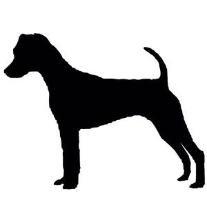 300x300 New Jack Russell Terrier Silhouette Sticker Dog Breed Stickers Car