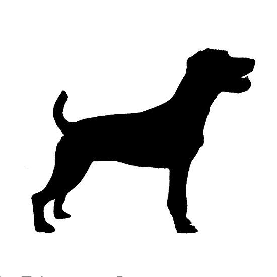 550x550 Parson Russell Terrier Silhouette Dog Breeds