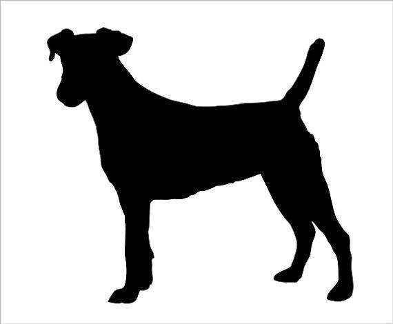 570x470 Jack Russell Silhouette Wall Decal Par Wilsongraphics Sur Etsy