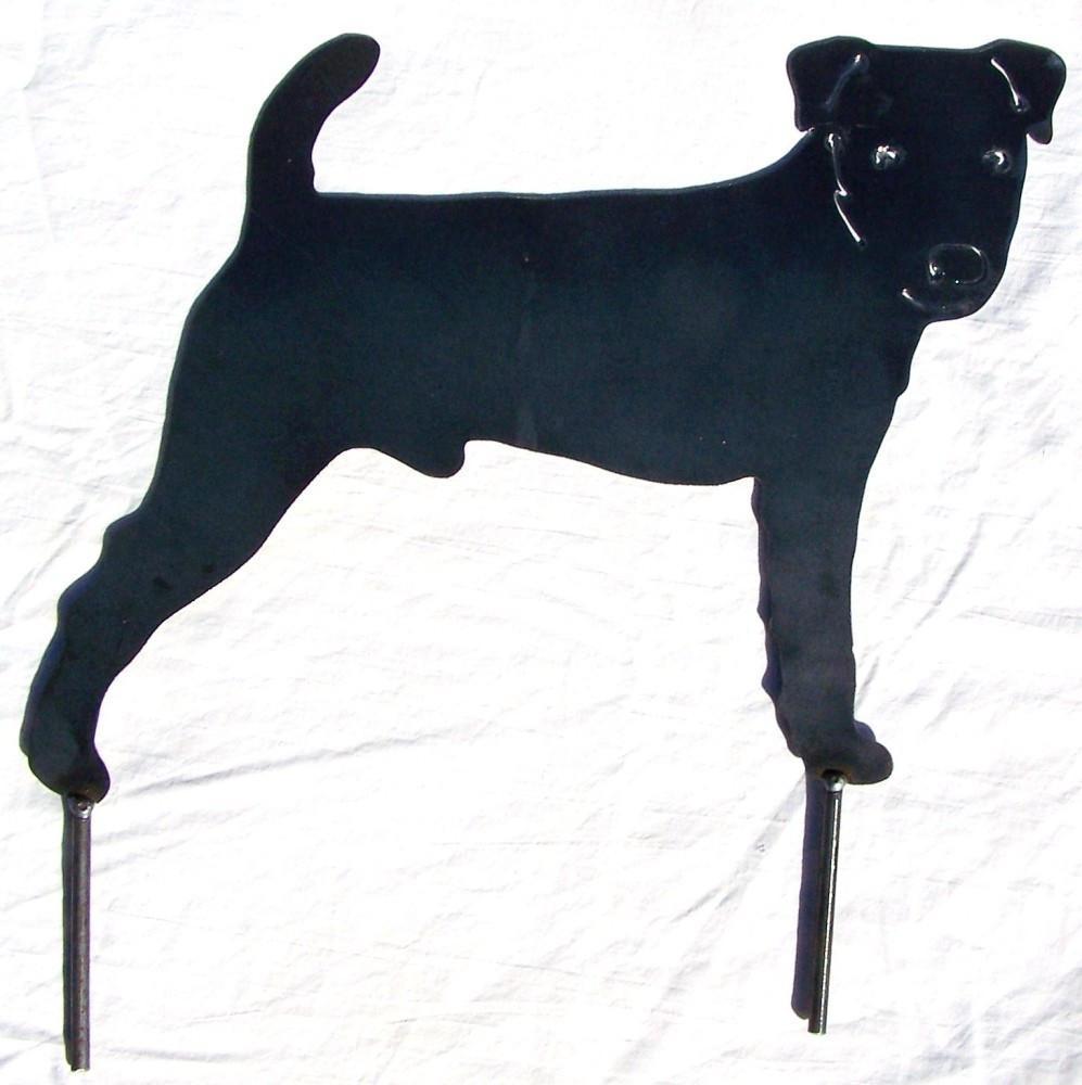 997x1000 Jack Russell Terrier Art Metal Yard Stake Modern Iron Works