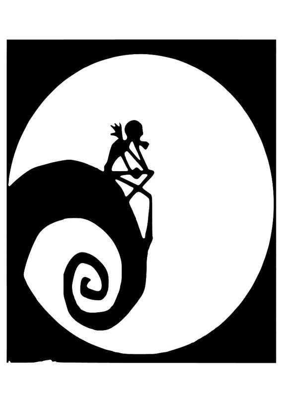 Jack Skellington And Sally Silhouette