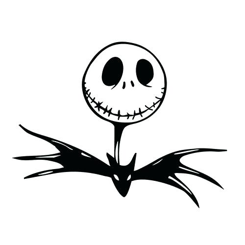 picture relating to Jack Skellington Stencil Free Printable titled Jack Skellington And Sally Silhouette at