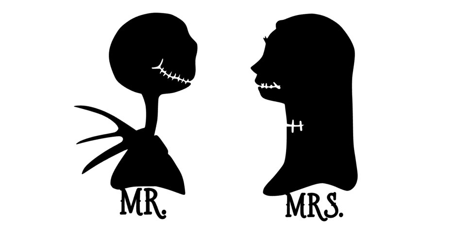 Jack Skellington And Sally Silhouette At GetDrawings Free For Mesmerizing Jack And Sally Pumpkin Patterns For Free