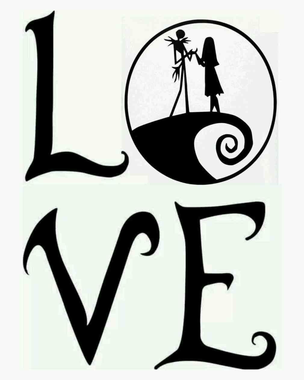 Jack Skellington And Sally Silhouette at GetDrawings.com | Free for ...