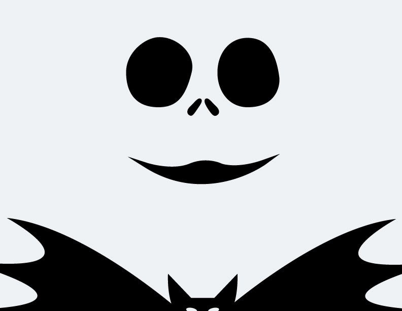 image relating to Jack Skellington Stencil Free Printable titled Jack Skellington And Sally Silhouette at