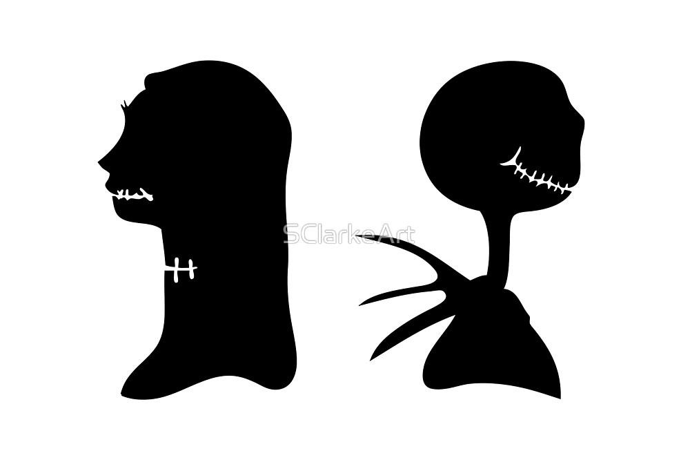 1000x666 Jack And Sally Victorian Halloween Silhouette By Sclarkeart