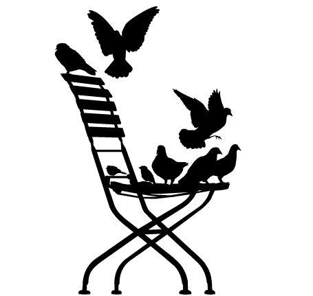 455x431 Bird Silhouette Tattoo Birds On A Branch Clip Art