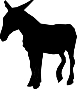 258x298 Silhouette Of Donkey