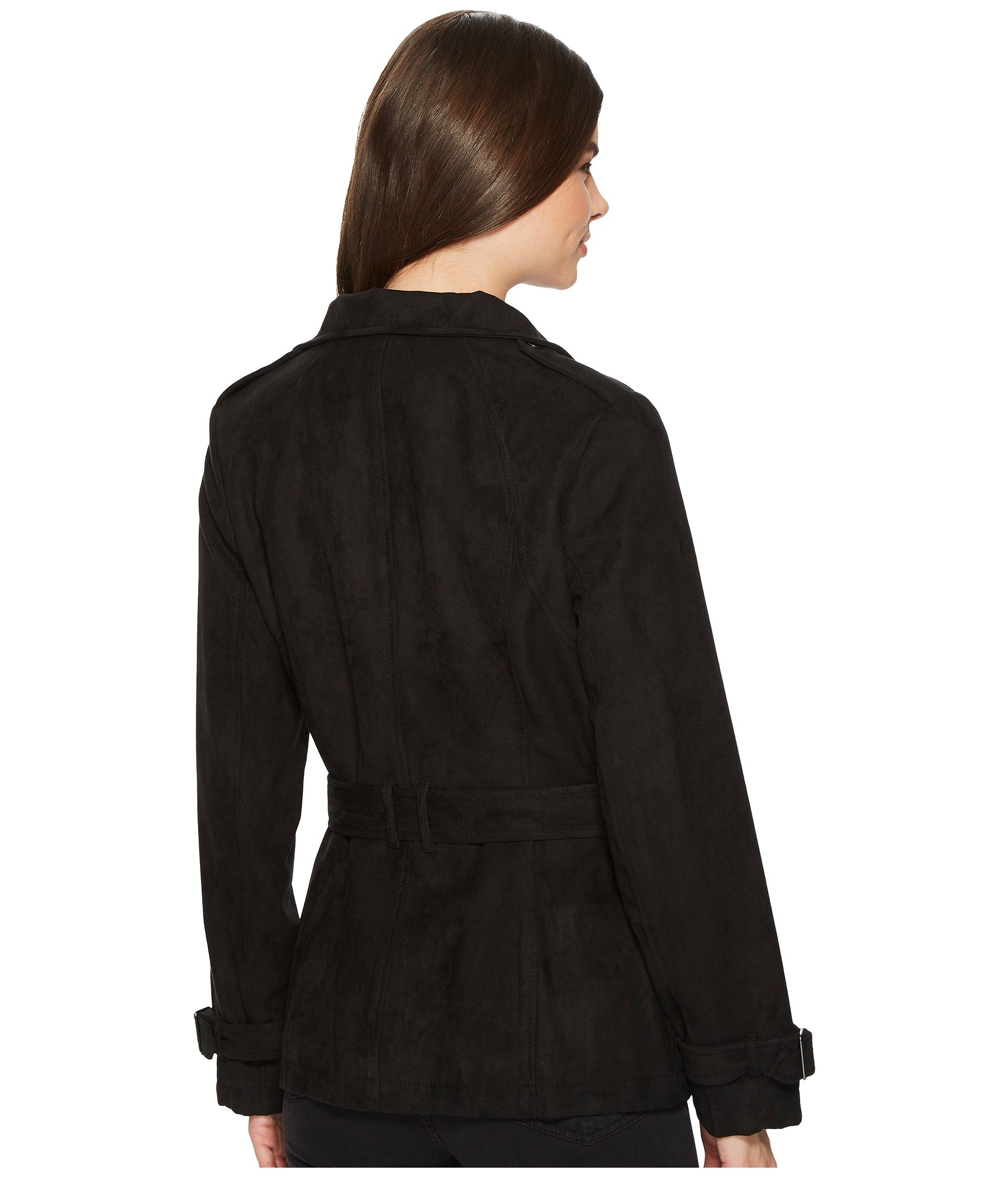 1920x2240 Kenneth Cole New York Women's Clothing Faux Suede Moto Trench