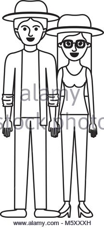 216x470 Couple Monochrome Silhouette Him With Shirt Jacket