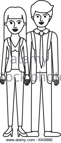 201x470 Couple Monochrome Silhouette And Him With Suit And Tie And Pants