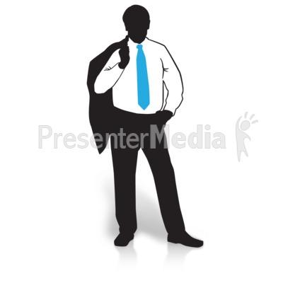 400x400 Businessman Silhouette Suit Jacket