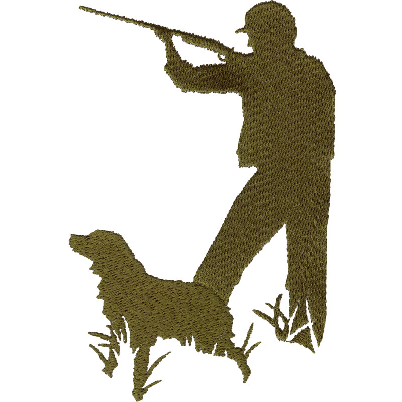 800x800 Hunter Amp Dog Silhouette