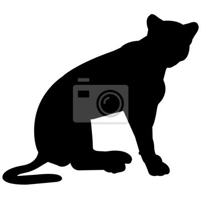 400x400 Jaguar Silhouette Vektorgrafiken Fototapete Fototapeten