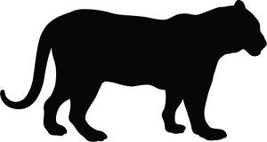 300x160 Panther Jaguar Silhouette Vinyl Sticker Car Bumper Sticker