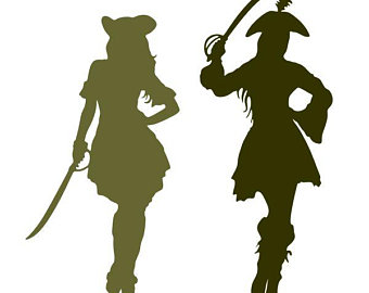 340x270 Pirate Silhouette Etsy