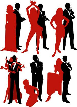 James Bond Silhouette Dancers