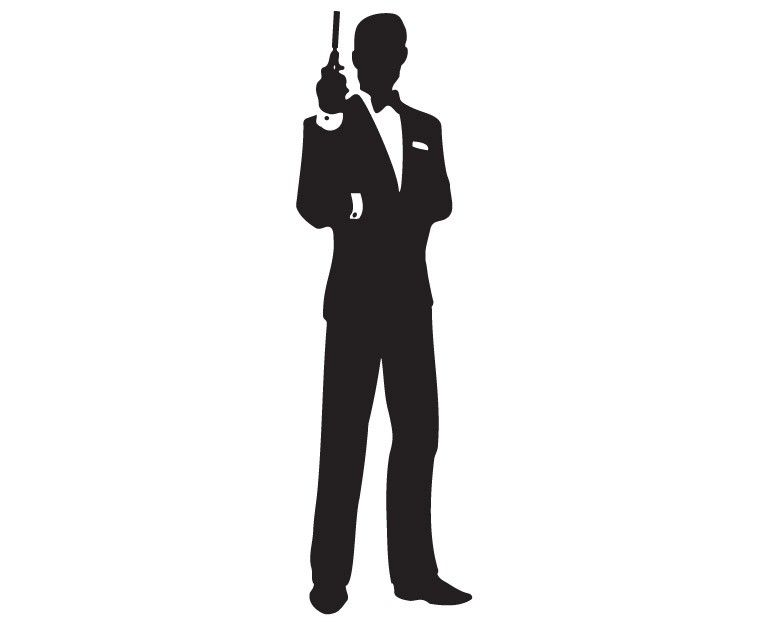 769x622 James Bond Silhouette James Bond Klassisk Silhouette James Bond